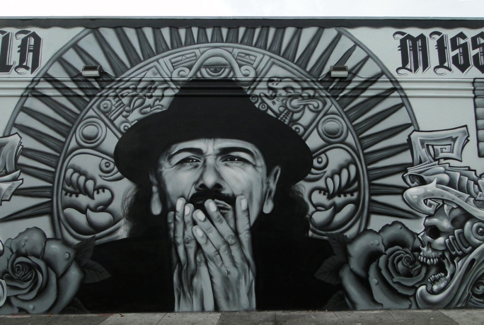 Santana mural by Mel Waters and Hyde in San Francisco